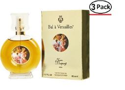 BAL A VERSAILLES by Jean Desprez EDT SPRAY 1.7 OZ (Package Of 3)