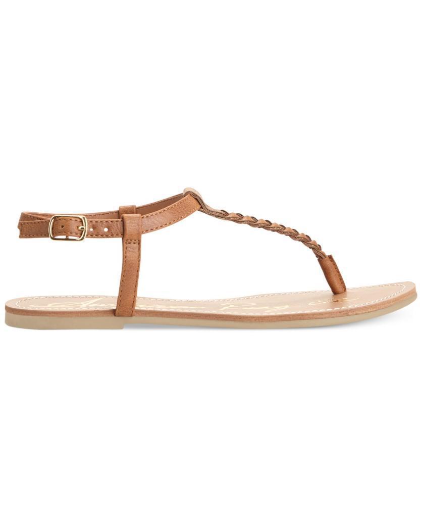 A.R. Krista Thong T-Strap Flat Sandals - Coral