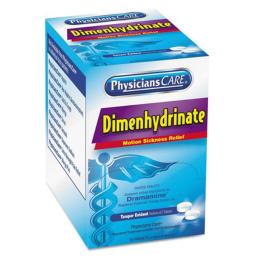 Acme United Corporation 90031 Dimenhydrinate Motion Sickness Tablets