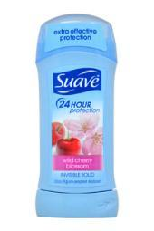 Suave 24 Hour Protection Wild Cherry Blossom Solid Anti-Perspirant Deodorant 2.6