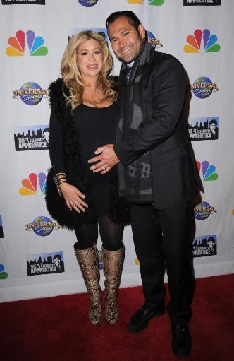 Johnny Damon, Michelle Mangan In Attendance For The Celebrity Apprentice Season Finale Post-Show Red Carpet, Trump Tower, New York, Ny February.