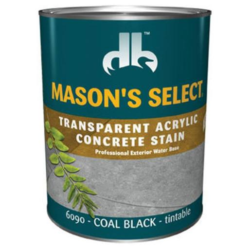 Duckback Products DB0060903-14 Masons Select QT Coal Black, Transparent Concrete Stain - Pack Of 6