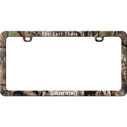 BROWNING BLF2504 BROWNING LICENSE PLATE FRAME W/LOGO AND BUCKMARK CAMOFLAGE<
