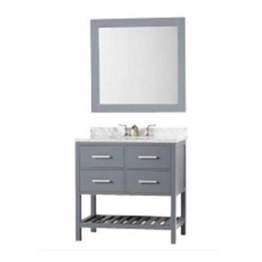 Design Element DEC077A-G 36 in. London Single Sink Vanity Set, Gray