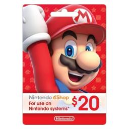 Incomm digital solutions nintendo $20 card (preloaded)(new design) 005845