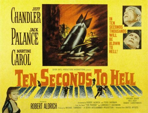 Ten Seconds To Hell Jeff Chandler Martine Carol Jack Palance 1959 Movie Poster Masterprint 842336