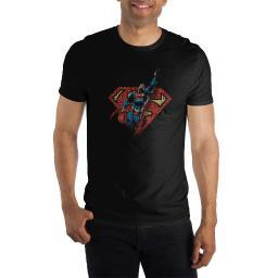 DC Comics Superman Flying Logo Text Fill Mens T Shirt
