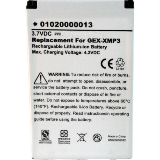 Replacement Battery For Pioneer XMp3 Satellite Radio -
