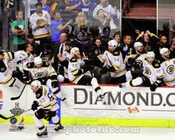Boston Bruins Bench Celebration Game 7 of the 2011 NHL Stanley Cup Finals(#55) Sports Photo PFSAANS21001