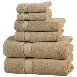affinitylinens-6pctwlst-tpe-home-collection-600-gsm-elegance-spa-luxurious-cotton-towel-set-taupe-6-piece-y2ylqs39fmfirz18