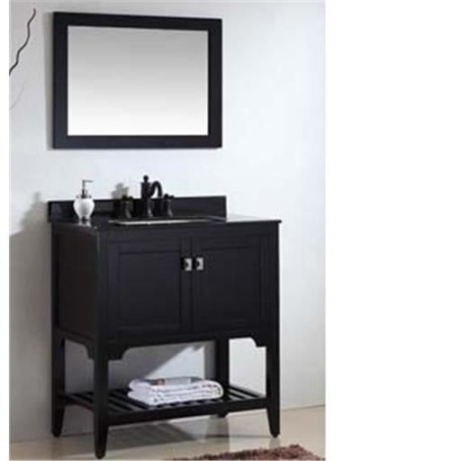 Dawn Kitchen RAM310123-06 Solid Wood And Plywood Frame Matt Black Finish Mirror
