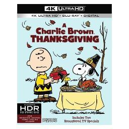 Peanuts-charlie brown thanksgiving (blu-ray/4k-uhd/ultraviolet) BR650972