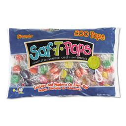 Spangler Candy 182 Saf-T-Pops - Assorted Flavors, Individually Wrapped