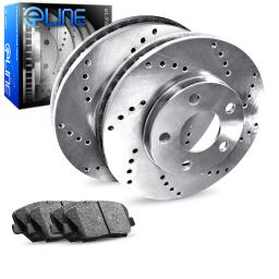 Rear eLine Cross-Drilled Brake Rotors & Ceramic Brake Pads REX.75010.02