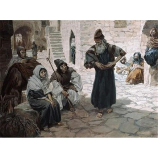 Posterazzi SAL999197 The Old Man Invites the Levite James Tissot 1836-1902 French Jewish Museum New York City Poster Print - 18 x 24 in.