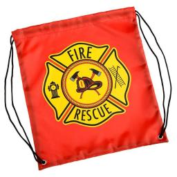 Aeromax, Inc DSFR Drawstring Backpack Firefighter, Red