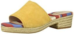 Cole Haan Women's Giselle MID Espadrille Sandal II Wedge, Spruce Yellow Suede, 9 B US