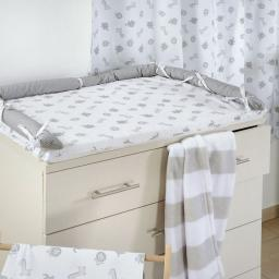 Gray Jungle Crib Bedding Accessory - Dresser Cover