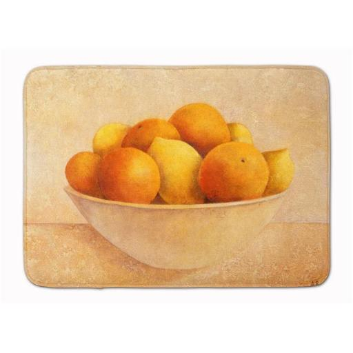 Carolines Treasures BABE0085RUG Orange & Lemons in a Bowl Machine Washable Memory Foam Mat