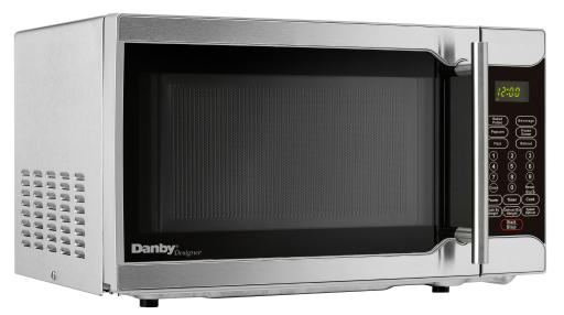 Danby Designer 0.7 cu. ft. Microwave 0.7 cu. ft. (20 litres) capacity microwave700 watts of cooking powerStylish stainless steel exterior10 power levelsSimple one-touch cooking for 6 popular usesEasy to read LED timer/clockElectronic controls