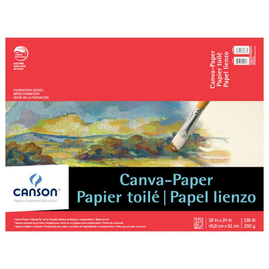 Canson/fila co 100510845 foundations canva-paper pads 18 x 24