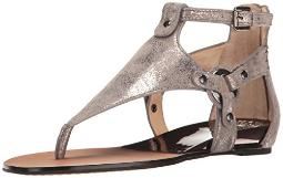 Vince Camuto Womens Averie Leather Split Toe Casual T-Strap Sandals