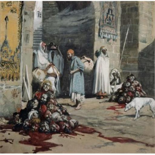 Posterazzi SAL999301 Two Heaps of Skulls at the City Gate James Tissot 1836-1902 French Jewish Museum New York City Poster Print - 18 x 24 in.