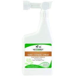 Vet'S Best 3165810349 White Vet'S Best Pet Flea And Tick Yard And Kennel Spray 32Oz White 4.75 X 2 X 11.25