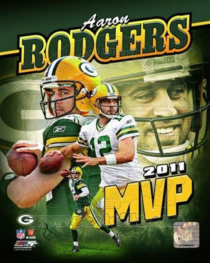 Aaron Rodgers 2011 NFL MVP Portrait Plus Sports Photo
