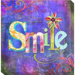 Artistic Home Gallery 1212703G Smile Fashion by Connie Haley Premium Gallery-Wrapped Canvas Giclee Wall Art 1212703G