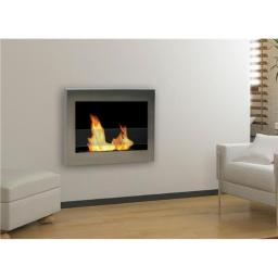 Anywhere Fireplace 90299 SoHo Indoor Wall Mount Stainless Steel Fireplace