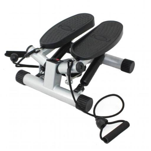 Sunny Health and Fitness NO. 068 Twisting Stair Stepper with Bands