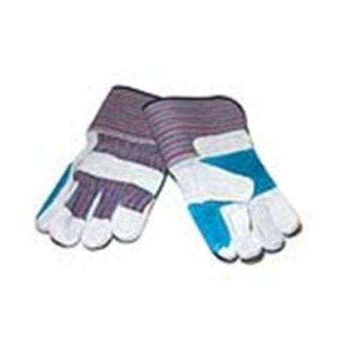 Major Gloves & Safety 30-3111P Joint Leather 4.5 in. Cuff Double Palm Gloves Pack - 6 Dozen