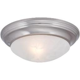 ROYAL COVE DECORATIVE FLUSH MOUNT CEILING FIXTURE, BRUSHED NICKEL, 12 X 4-1/4 56 563118