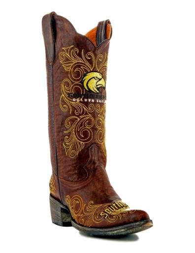 Gameday Boots Womens College Team South Mississippi Brass USM-L080-1 1361929