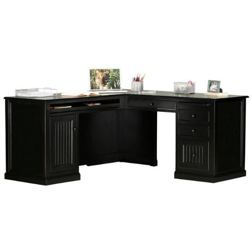 Eagle Furniture 72100WPBK-72101NGBK Coastal Computer Desk & Desk Return, Antique Black