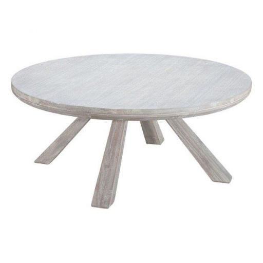 Zuo Modern 100747 Beaumont Round Coffee Table, Sun Drenched Acacia