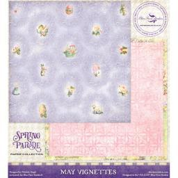 """Blue Fern Spring Parade Double-sided Cardstock 12""""x12""""-may Vignettes"""