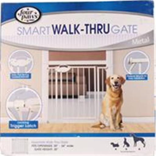 Four Paws Products 436172 Essential Walk Through Metal Gate