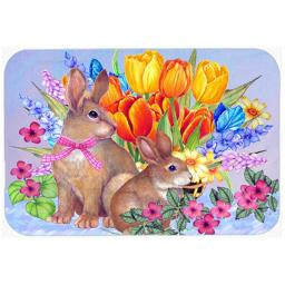 Carolines Treasures PJC1067LCB New Beginnings Ii Easter Rabbit Glass Cutting Board, Large PJC1067LCB