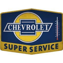 Open road brands 90150963s open road brands thermometer emb tin sign super chevy svc