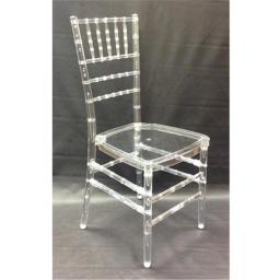 Alston FM343 36.25 x 15.75 x 20 in. Clear Stacking Chair