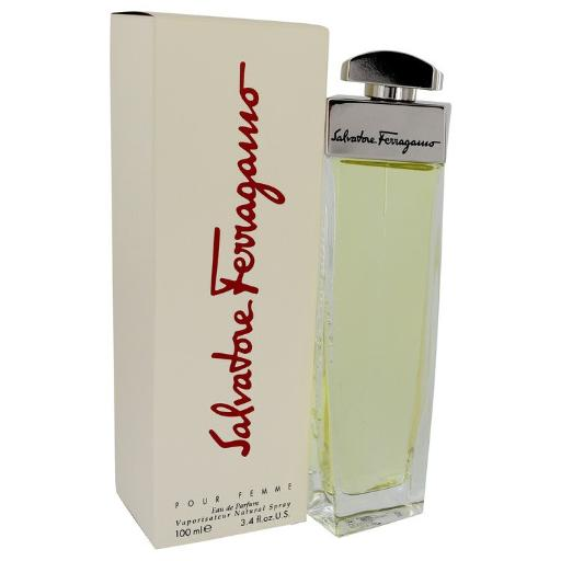 SALVATORE FERRAGAMO by Salvatore Ferragamo Eau De Parfum Spray 3.4 oz for Women (Package of 2) Launched by the design house of Salvatore Ferragamo in 1998, SALVATORE FERRAGAMO is classified as a sharp, flowery fragrance. This feminine scent possesses a blend of a dry scent of greens and anise with lily of the valley and spices, lower notes of fruit, nuts and musk. It is recommended for casual wear.