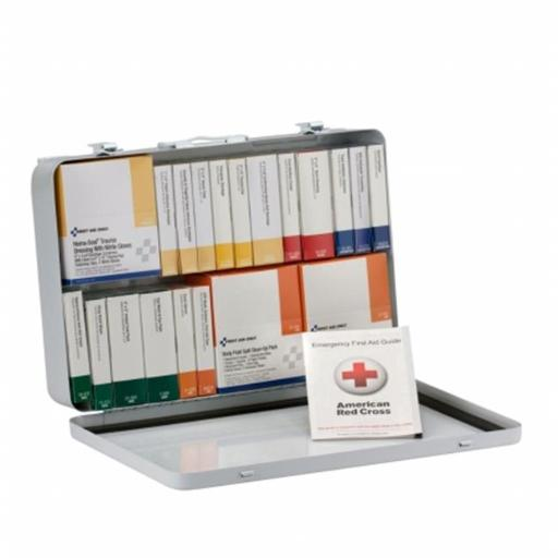 First Aid Only FAO90700 75 Person 36 Unit Kit, ANSI A Plus Compliant with BBP Blood Borne Pathogen Pack, Weatherproof Steel Case & Type III