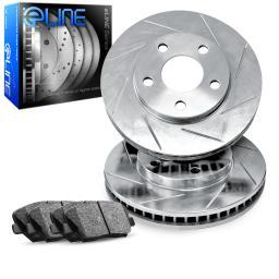 Front eLine Slotted Brake Disc Rotors & Ceramic Brake Pads Sequoia,Tundra