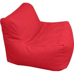Gold Medal 3CHAIR84107 Sectional Denim Look Bean Bag Chair - Red