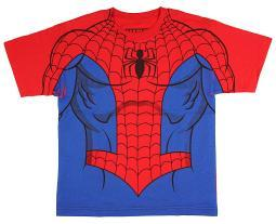Marvel Comics The Amazing Spider-Man Youth Sublimation Print Costume T-shirt