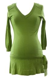 Olian Women's Knit Drop Waist Maternity Tunic X-Small Moss Green
