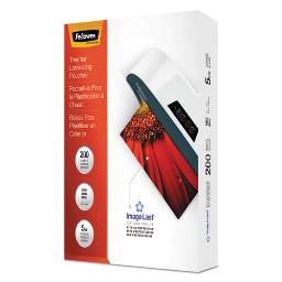 """Imagelast Laminating Pouches With UV Protection 5 Mil 9"""" X 11.5"""" Clear 200 Per Pack   1 Pack of: 200"""