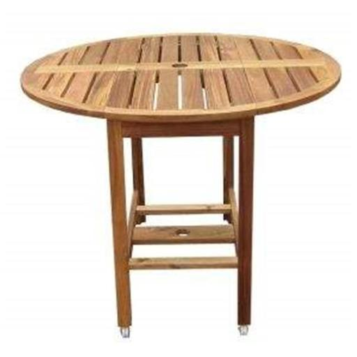 Merry Products MPG-TBS01-TB Round Folding Table - Wood